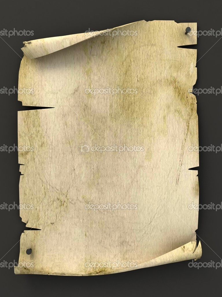 Old blank manuscript as background 3d illustration — Stock Photo #9967273