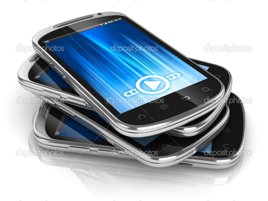 Smart phones 3d illustration  Stock Photo #9967334