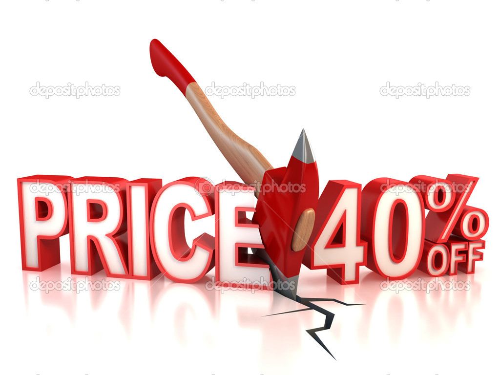 40 percent discount 3d concept  Stock Photo #9968435