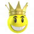 Smiley king — Stock Photo