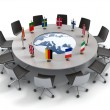 Royalty-Free Stock Photo: European union round table - EU meeting, conference 3d concept