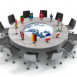 European union round table - EU meeting, conference 3d concept — Stock Photo