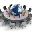 United nations, global politics, diplomacy, strategy, environment, world leadership 3d concept — Foto de Stock