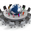 United nations, global politics, diplomacy, strategy, environment, world leadership 3d concept — Stockfoto