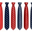Neck tie set 3d illustration — 图库照片 #9979376