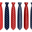 Neck tie set 3d illustration — Stockfoto