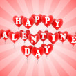 Happy valentine's day balloons — Stock Photo