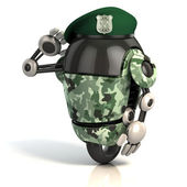 Robot soldier — Stock Photo