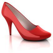 красный женщин обуви изолированные — Стоковое фото