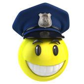Smiley policeman — Stock Photo