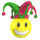 Jester smiley — Foto Stock