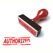 3d stamp authorized — Stock Photo
