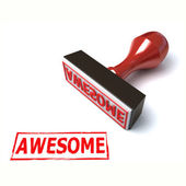 3d stamp awesome — Stock Photo