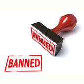 3d stamp banned — Stock Photo