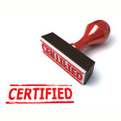 3d stamp certified — Stock Photo