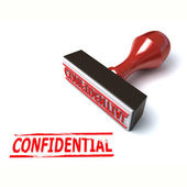 3d stamp confidential — Stock Photo