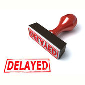 3d stamp delayed — Stock Photo