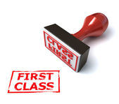 3d stamp first class — Stock Photo
