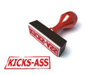 3d stamp kicks-ass — Stock Photo