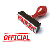 3d stamp official — Stock Photo