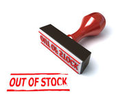 3d stamp out of stock — Stock Photo