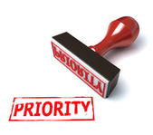 3d stamp priority — Stock Photo