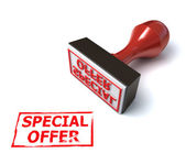 3d stamp special offer — Stock Photo
