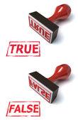 3d stamp true false — Stock Photo