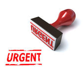 3d stamp urgent — Stock Photo