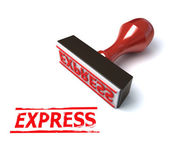 3d stamp express — Stock Photo