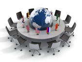 United nations, global politics, diplomacy, strategy, environment, world leadership 3d concept — Stock Photo