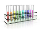 Colorful test tubes — Stock Photo