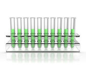 Test tubes isolated — Stock Photo