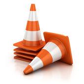 Traffic cones 3d illustration — Stock Photo