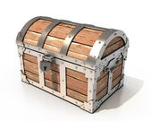 Treasure chest 3d illustration — Stock Photo