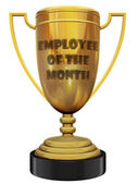 Werknemer van de maand trophy — Stockfoto