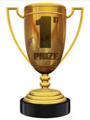 First prize 3d trophy — Stock Photo