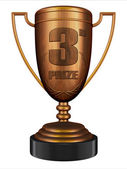 3d-bronze trophy — Stockfoto