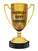 Best friend trophy — Stock Photo