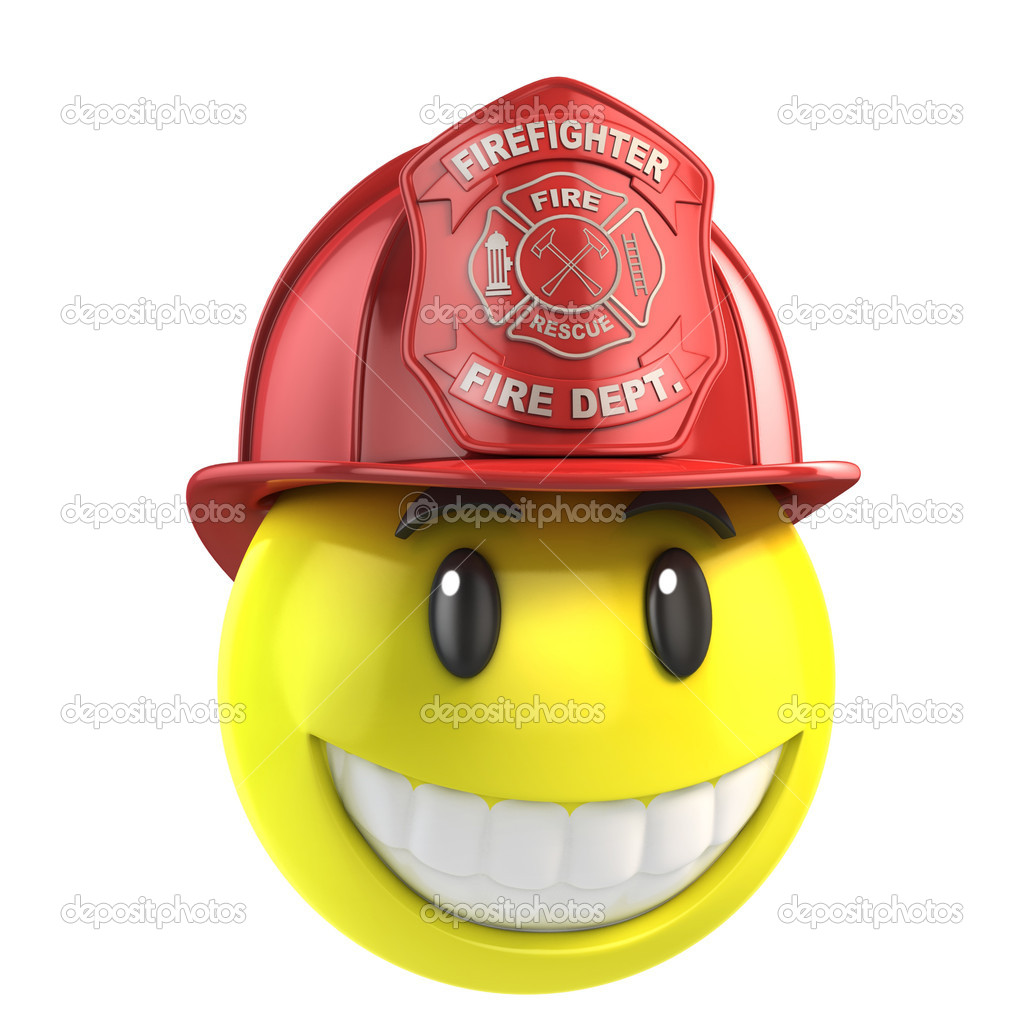 Smiley fireman 3d illustration — Stock Photo #9977442