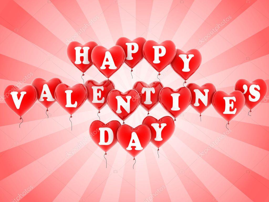 Happy Valentines Day Balloons Stock Photo C Koya979 9979822