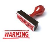 3d warning stamp — Stock Photo