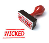 3d wicked stamp — Stock Photo