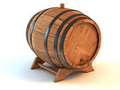 Wine barrel the white background — Stock Photo