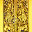 Thai art on the door at Wat Phra Kaew — Stock Photo