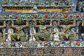 Thai art at Prang of Wat Arun. — Stock Photo