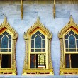 Three windows at Wat Benchamabophit — Stock Photo