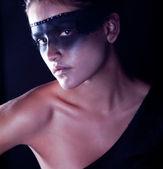 Kara gözlü güzel kız — Stok fotoğraf