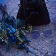 Still life with blue roses — Stock Photo