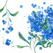 Blue forget-me-not — Stock Photo #9736546